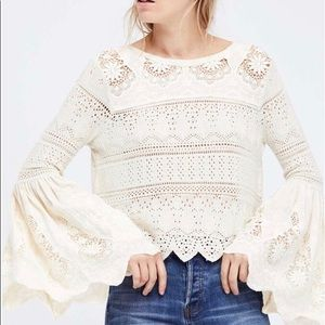 Free People Once Upon A Time Peasant Top-Ivory